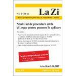 Noul Cod de procedură civila si Legea pentru punerea in aplicare 01.06.2012