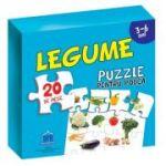 Puzzle pentru podea - Legume - 3-6 Ani