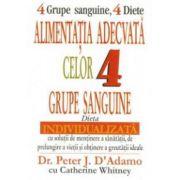 Alimentaţia adecvată celor 4 grupe sanguine
