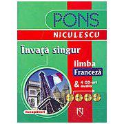 Invata singur limba franceza cu 4 CD-uri
