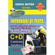 Întrebări şi teste pentru obţinerea permisului de conducere auto (autobuze, camioane)