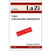 Legea contenciosului administrativ actualizat la 10.03.2011
