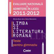 LIMBA SI LITERATURA ROMANA. TESTE PENTRU GIMNAZIU