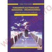 Fundamente ale psihologiei managerial - organizationale