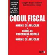Codul fiscal cu norme de aplicare si codul de procedura fiscala cu norme de aplicare,  Ianuarie 2012 O.U.G 125