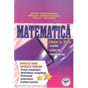 Matematica, Clasa a X-a - Algebra. Geometrie. Trigonometrie. Sinteze de teorie. Exercitii si probleme