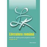 Bac 2012 Literatura Roamana Eseul. Modele de analiza clasele IX - XII