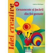 Ornamente şi jucării din foi gumate - Idei Creative 51