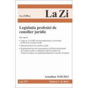Legislatia profesiei de consilier juridic(actualizat 15.05.2012)