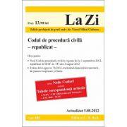 Codul de procedura civila republicat 05.08.2012