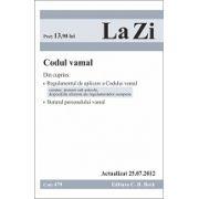 Codul vamal actualizat la 25.07.2012