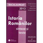 Bacalaureat 2013 Istoria romanilor  -Sinteze si teste