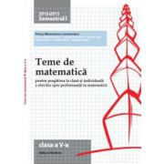 Teme de matematică 2013 Clasa a V-a