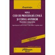 Noul Cod de procedura civila si Codul anterior. Prezentare comparativa - actualizat 16 aprilie 2013