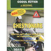 Chestionare Pentru Obtinerea Permisului De Conducere Auto 2013 - categoriile AM (Motoscutere) A1, A2, A