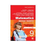 Matematică 2013 clasa a IX-a - Breviar teoretic cu exerciţii şi probleme propuse şi rezolvate - teste de evaluare - teste sumative