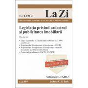 Legislatia privind cadastrul si publicitatea imobiliara - Actualizat la 1.10.2013
