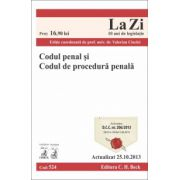 Codul penal şi Codul de procedură penală Ed. 13. Actualizat la 25.10.2013