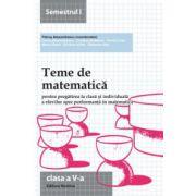 Teme de matematică 2014 - Clasa a V-a semestrul 1