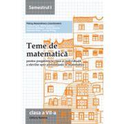 Teme de matematică 2014 - Clasa a VII-a semestrul 1