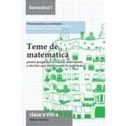 Teme de matematică 2014 - Clasa a VIII-a semestrul 1
