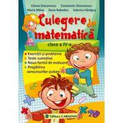 CULEGERE DE MATEMATICA. CLASA A IV-A - Diaconescucarmin