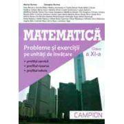Matematica, clasa a XI-a: probleme si exercitii pe unitati de invatare