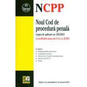 Noul Cod de procedura penala 12 Ianuarie 2015