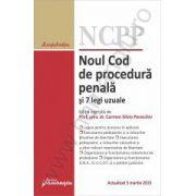 Noul Cod de procedura penala si 7 legi uzuale - actualizat 5 martie 2015