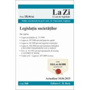 Legislatia societatilor. Actualizat la 10. 04. 2015