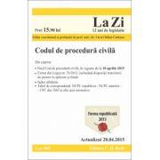 Codul de procedura civila. Actualizat la 20. 04. 2015