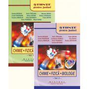 Stiinte pentru juniori, Chimie, Fizica, Biologie (2 vol.)