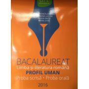 Bacalaureat Limba si Literatura Romana - PROFIUL UMAN- Poba scrisa- Proba orala 2016