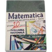 Vreau 10 (zece) la evaluarea nationala. Matematica, exercitii recapitulative - Teste 2016