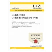 Codul civil si Codul de procedura civila. Actualizat la 5. 11. 2015