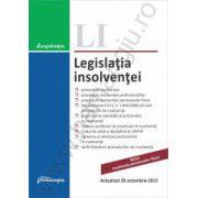 Legislatia insolventei. Actualizat 20 octombrie 2015