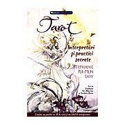 Tarot: interpretări şi practici secrete conţine un pachet de 78 de cărţi şi un ghid de interpretare