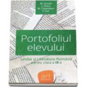 Portofoliul elevului. Metoda de evaluare la limba si literatura romana pentru clasa a IX-a