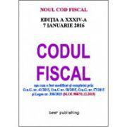 Codul fiscal format A5 - editia a XXXIV-a - 7 IANUARIE 2016
