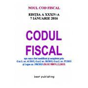 NOUL COD FISCAL 2016 - Format A4 - Editia a XXXIV-a - ACTUALIZAT 7 IANUARIE 2016