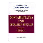 Contabilitatea unor Operatiuni Speciale 18 marite 2016 - Fuziunea - Diviziunea - Dizolvarea - Lichidarea. Ordinul M. F. P. nr. 897/2015 actualizat