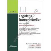 Legislatia intreprinderilor. Actualizat 10 martie 2016