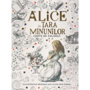 Alice in tara minunilor - carte de colorat