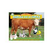 Animale de la ferma. Cartea mea cu puzzle-uri