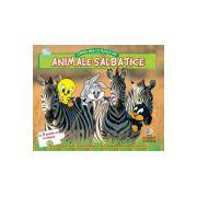 Animale salbatice. Cartea mea cu puzzle-uri