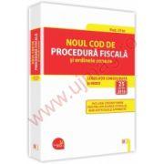 Noul Cod de procedura fiscala si ordinele conexe Legislatie consolidata si INDEX – 25 aprilie 2016