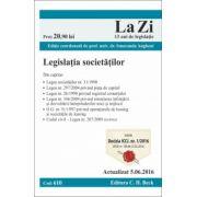 Legislaţia societăţilor. Actualizat la 5. 06. 2016