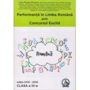 Performanta in Limba Romana prin Concursul Euclid - clasa a III-a - Editia 2015-2016 - Laura-Roxana Alexandru