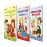 Set de 3 caiete pentru clasa pregatitoare - Editia 2016 - Comunicare in Limba Romana, Dezvoltare personala, Matematica si explorarea mediului