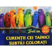Curentii cei tainici subtili colorati. Set cu 20 de culori
